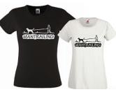 Fan-Shirts für HundefreundeT-Shirt Damen -Mantrailing- 2.0 schwarz EINZELSTÜCK