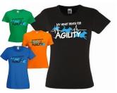 Fan-Shirts für HundefreundeHundespruch T-Shirt: I Love Agility Hundesport