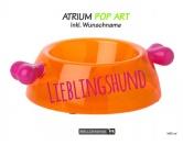 Wasser- & Futternäpfe für Hunde & KatzenBellomania Hundenapf: Knochen Atrium POP ART -Bow-Wow- inkl. Wunschdruck