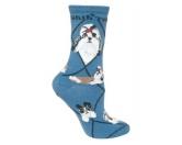 Bekleidung & AccessoiresHausschuhe & PantoffelnHunde Rasse Socken: Shih Tzu -blau-