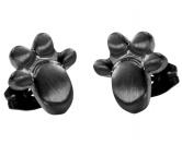 MarkenEnergy & Life: Magnet Ohrstecker Pfote schwarz -schwarz-