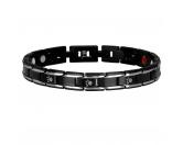 Für TiereHundepfeifen - HandarbeitEnergy and Life Magnetschmuck - Armband Pfote -schwarz- schmal