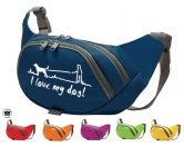 Für MenschenHunde Motiv Handtuch -watercolour-Hundesport Bauchtasche Fun: I love my Dog