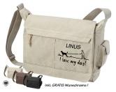 Taschen & RucksäckeCanvas Bag Nature: I Love my Dog