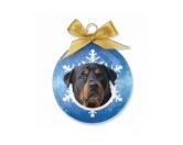SchnäppchenHunde Weihnachtsbaum Kugel: Rottweiler