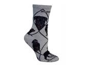 Hunde Rasse Socken: Rottweiler -grau-