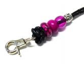 Hundespruch KollektionenKollektion -Ohne Katze ist alles doof-Hundepfeife Pfeifenband -Jade- 80 lila