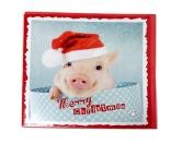 WeihnachtenMyrna Weihnachtskarte: Schweinchen