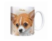 Aufkleber & TafelnHunde Motiv Tasse: Chihuahua -Sepia-