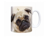 The Mountain FaceThe Mountain-Shirts HundeHunde Motiv Tasse: Pug Mops -Sepia-