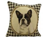 Taschen & RucksäckeBaumwolltaschenEdles Hunderasse Kissen: Französische Bulldogge (Gobelin) 2seitig 32 x 32 cm