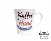 MarkenPfotenschild Design Tasse: Kaffee und Hund