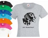 Hunderassen T-ShirtsHunderassen-T-Shirts: Münsterländer XL blau -EINZELSTÜCK-