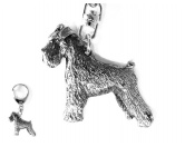 Schmuck & AccessoiresHunderassen Schmuck AnhängerDesign Hunderasse Schlüsselanhänger -Schnauzer Miniatur-