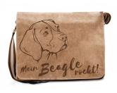 Leben & WohnenHundemotiv HandtücherCanvas Messenger Tasche: Beagle