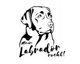 Bekleidung & AccessoiresGesichtsabdeckungHunderasse Aufkleber: Labrador