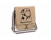 Taschen & RucksäckeGeldbörsen & HandytaschenLabrador Retriever 1 Canvas Schultertasche Tasche mit Hundemotiv und Namen
