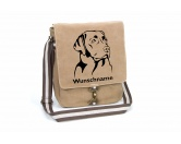 Hunderassen KollektionenLabrador Fan KollektionLabrador Canvas Schultertasche Tasche mit Hundemotiv und Namen