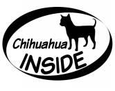 Warnwesten & SicherheitswestenWarnwesten mit Hunderasse MotivenInside Aufkleber: Chihuahua