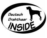 AusstellungszubehörHunderassen Ringclips vergoldetInside Aufkleber: Deutsch Kurzhaar Sprung