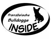 AusstellungszubehörHunderassen Ringclips vergoldetInside Aufkleber: Französische Bulldogge sitzend