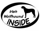 Socken mit TiermotivSocken mit HundemotivInside Aufkleber: Irish Wolfhound