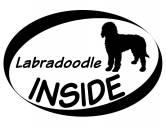 Für MenschenHundekalender 2020Inside Aufkleber: Labradoodle