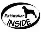 Für TiereFutterplatz-Matten & UnterlagenInside Aufkleber: Rottweiler