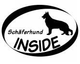 Aufkleber & TafelnInside Aufkleber: Schäferhund