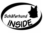 Bekleidung & AccessoiresSchals für TierfreundeInside Aufkleber: Schäferhund Kopf