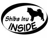 Bekleidung & AccessoiresHundesportwesten mit Hundemotiven inkl. Rückentasche MIL-TEC ®Inside Aufkleber: Shiba Inu 1
