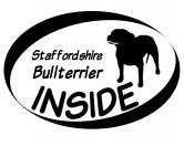 Leben & WohnenHundemotiv HandtücherInside Aufkleber: Staffordshire Bullterrier 1
