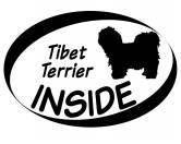 Socken mit TiermotivSocken mit HundemotivInside Aufkleber: Tibet Terrier 1