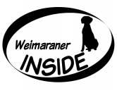 RucksäckeCanvas Rucksack HunderassenInside Aufkleber: Weimaraner