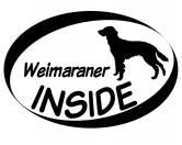 Bekleidung & AccessoiresHundesportwesten mit Hundemotiven inkl. Rückentasche MIL-TEC ®Inside Aufkleber: Weimaraner Langhaar 1