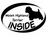 Für TiereFutterplatz-Matten & UnterlagenInside Aufkleber: West Highland Terrier