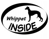 SchlüsselanhängerSchlüsselanhänger versilbertInside Aufkleber: Whippet