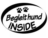 Auto Aufkleber Inside: Begleithund
