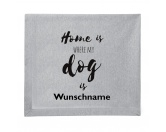 NeuheitenFleece Schmusedecke -Home is where my dog is- 127 x 150 cm
