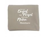 Fleece Schmusedecke -Nicht alle Engel haben Flügel- 127 x 150 cm