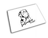 Aufkleber & TafelnHunde Glas Schneidebrett Labrador 20 x 28 cm