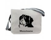 Canvas Messenger Tasche: Berner Sennenhund