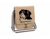 Tiermotiv TassenTassen HunderassenBerner Sennenhund Canvas Schultertasche Tasche mit Hundemotiv und Namen