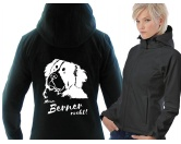 Softshell-Hoody-Jacke: -Berner Sennenhund-