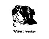 Wandtattoo -Berner Sennenhund-