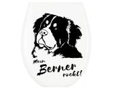 Klodeckel WC Aufkleber: Berner Sennenhund