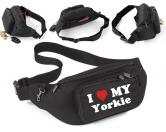SchnäppchenHundemotiv-Bauchtasche-Utensilientasche I Love My: Yorkie -Einzelstück-