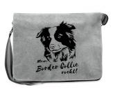 Bekleidung & AccessoiresHundesportwesten mit Hundemotiven inkl. Rückentasche MIL-TEC ®Canvas Messenger Tasche: Border Collie