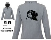 Selbstklebende KreidetafelnHundeBerner Sennenhund - Hundemotiv Softshell Jacke