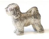 AusstellungszubehörHunderassen Ringclips vergoldetTibetan Terrier Figur
